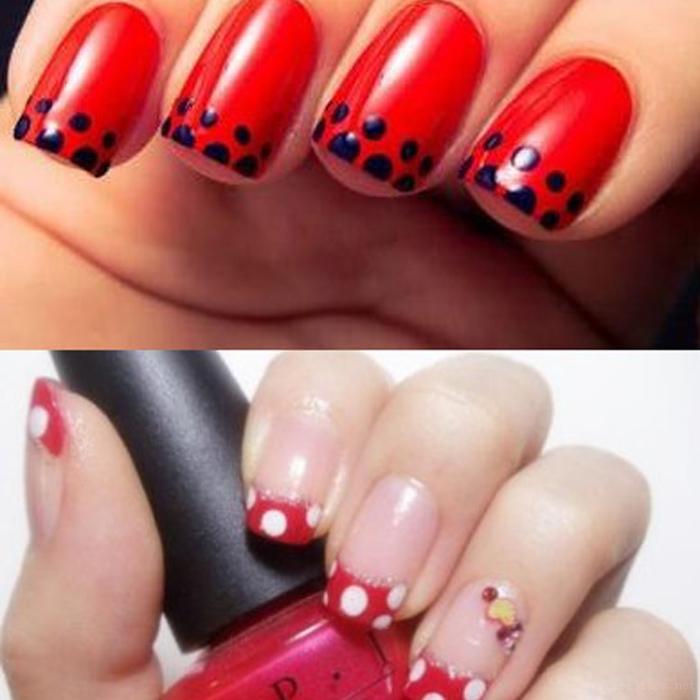 除了纯红色美甲,你还会做怎么样的红色系美甲?